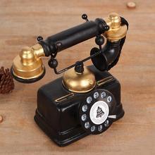 Европейский ретро полимерный винтажный телефонный набор для гостиной, кафе, украшения для дома, креативные декоративные фигурки, подарочные аксессуары