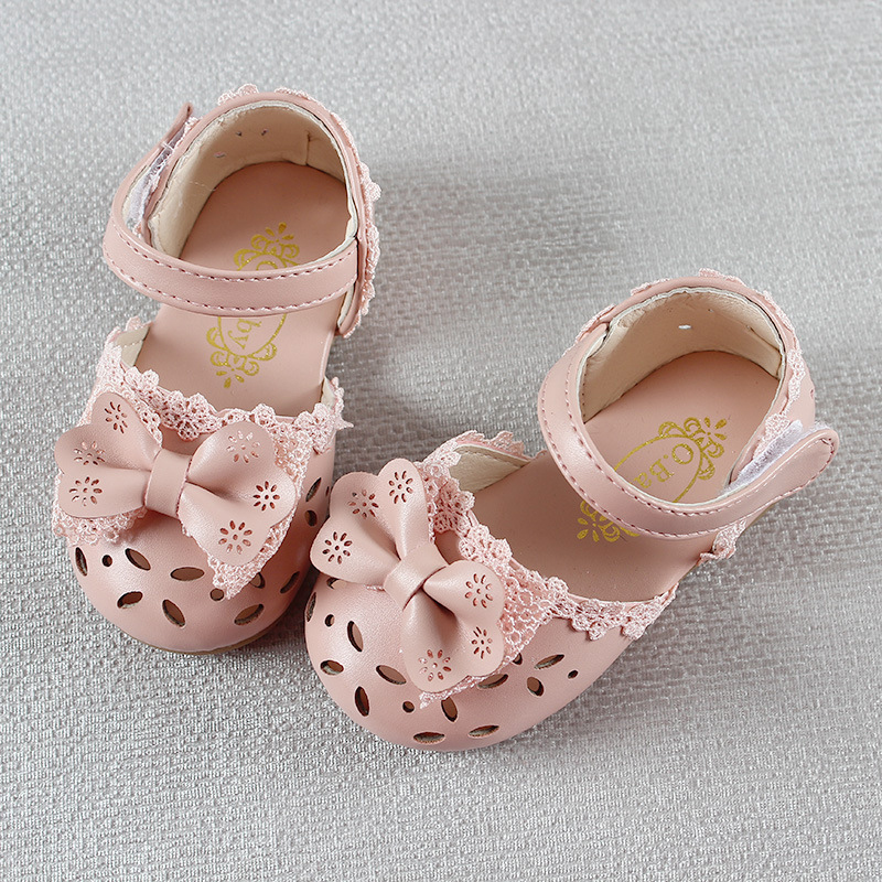 HTB1lDcXIuGSBuNjSspbq6AiipXa5 - Newest Summer Kids Shoes Fashion Leathers Sweet Children Sandals For Girls Toddler Baby Breathable Hoolow Out Bow Shoes