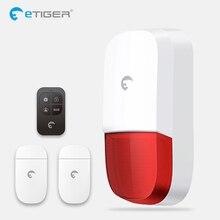 Sirena de luz estroboscópica inalámbrica para exteriores, con Sensor de movimiento inteligente, Sensor de puerta