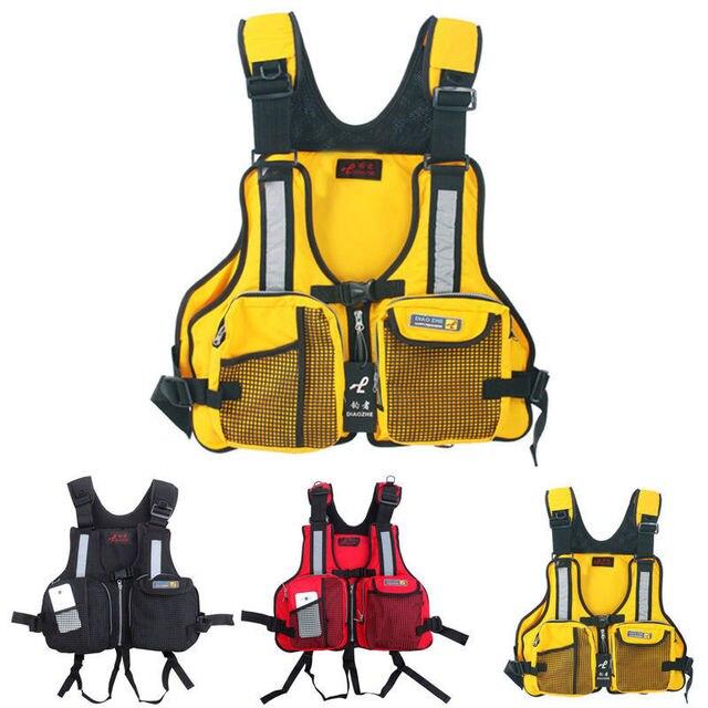 Chaqueta de rescate de nailon para adultos chaleco salvavidas de natación  al aire libre flotabilidad de 376f820efcdf