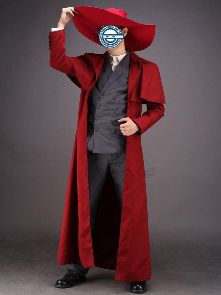 High-quality Hellsing Ultimate Alucard Full Set Cosplay Costume Cartoon Charact