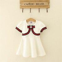 High quality kids fashion designer uniform girls winter dress with bow kids long princess dress habille hiver fille