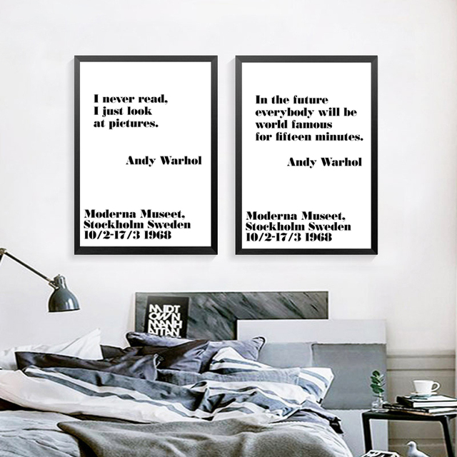 Black and White Art Canvas Painting Posters Prints,Andy Warhol ...