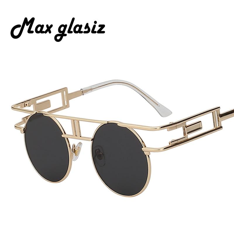 Steampunk Round Sunglasses Women Men Coating Sun Glass Inspi