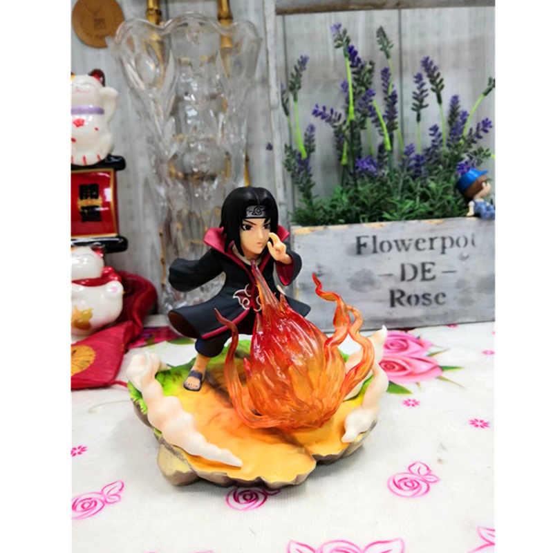 """25 см Итачи Учиха из """"Наруто"""" с пламенем Ball фигурка куклы игрушки из ПВХ, Коллекционная модель, Игрушечная модель из мультфильма, H565"""