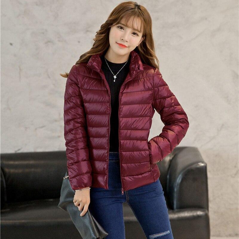 Plus Size 4XL 5XL 6XL Warm Jackets Autumn Womens Duck Down Fashion Coat Long Sleeved Ladies Slim Ultra-thin Jacket