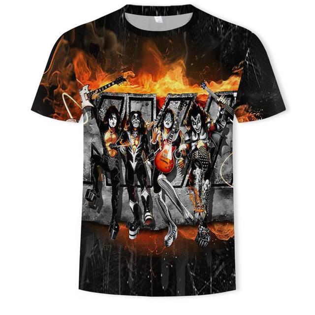 Rock Band T Shirt Kiss...