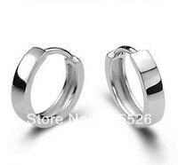 Brand Design Antique Jewelry Men Women 925 Sterling Silver Hoop Earrings Gift