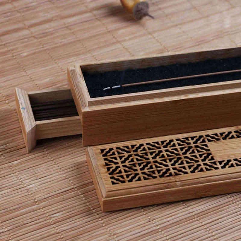 Ладан горелка подставка для ароматических палочек с ящиком Joss-Stick коробка полый ароматерапия дзен лежащий курильщик домашний офис Чайный домик