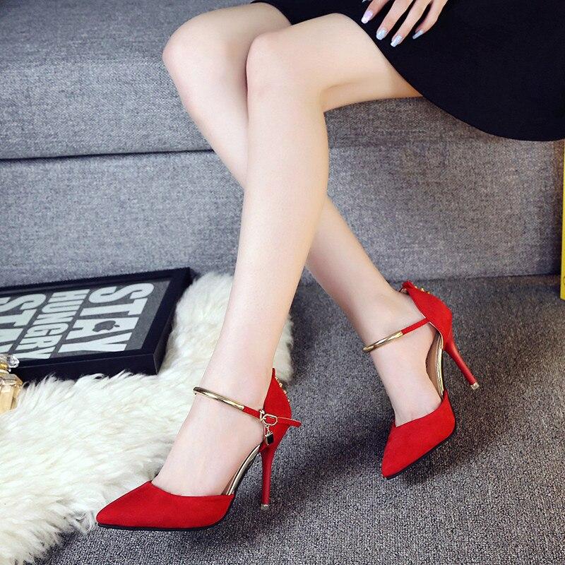 Individuales Sexy Boca red Con De Black Mate Bombas Baja Tacones Sandalias Femeninas 2018 Señaló S044 Zapatos Mujeres gray EPqFF8w