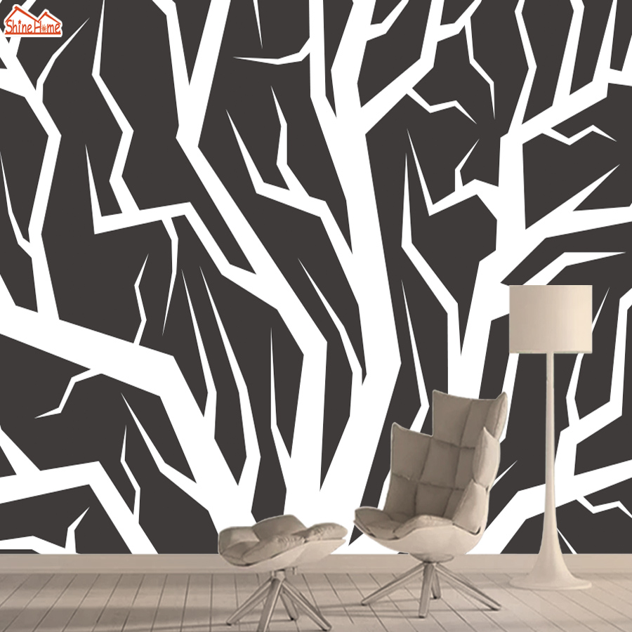 3d Nature Wallpaper Mural Wallpapers For Living Room Wall Paper Papers Home Decor Peel And Stick Black White Tree Murals Rolls