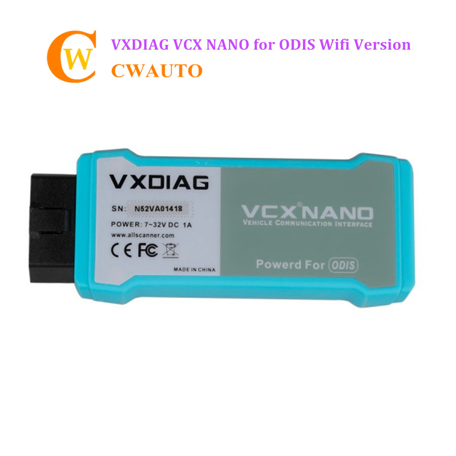 Wifi Version VXDIAG VCX NANO for 5054 ODIS V4.13 Multi-language VAG Diagnostic Tool Support UDS Protocol Replace VAS 5054A