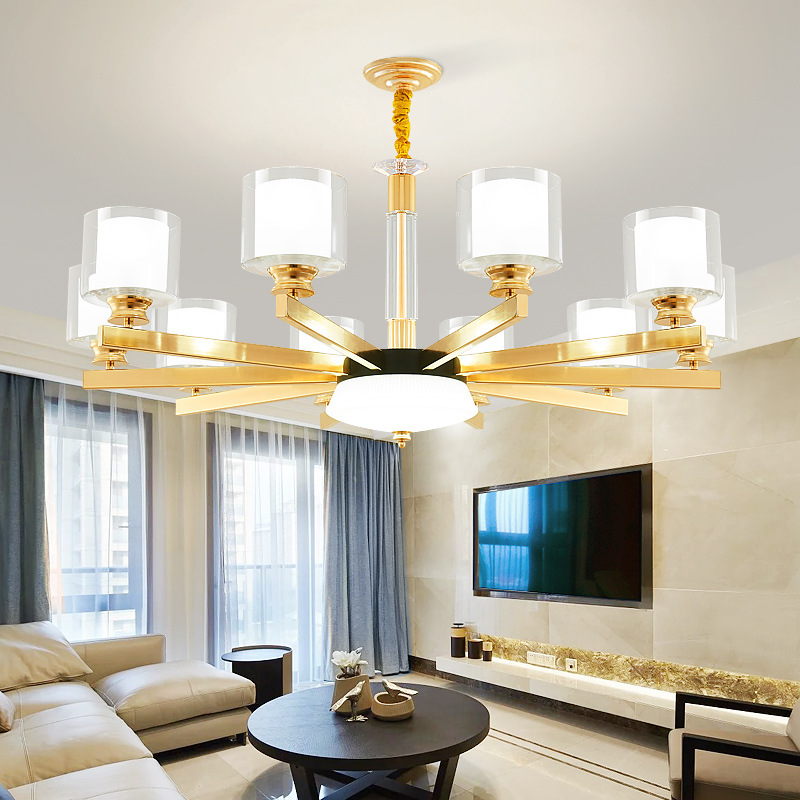 Modern LED Chandelier Living Room Suspended Lamps American Luminaires Bedroom Lighting Home Fixtures Dining Room Hanging Lights