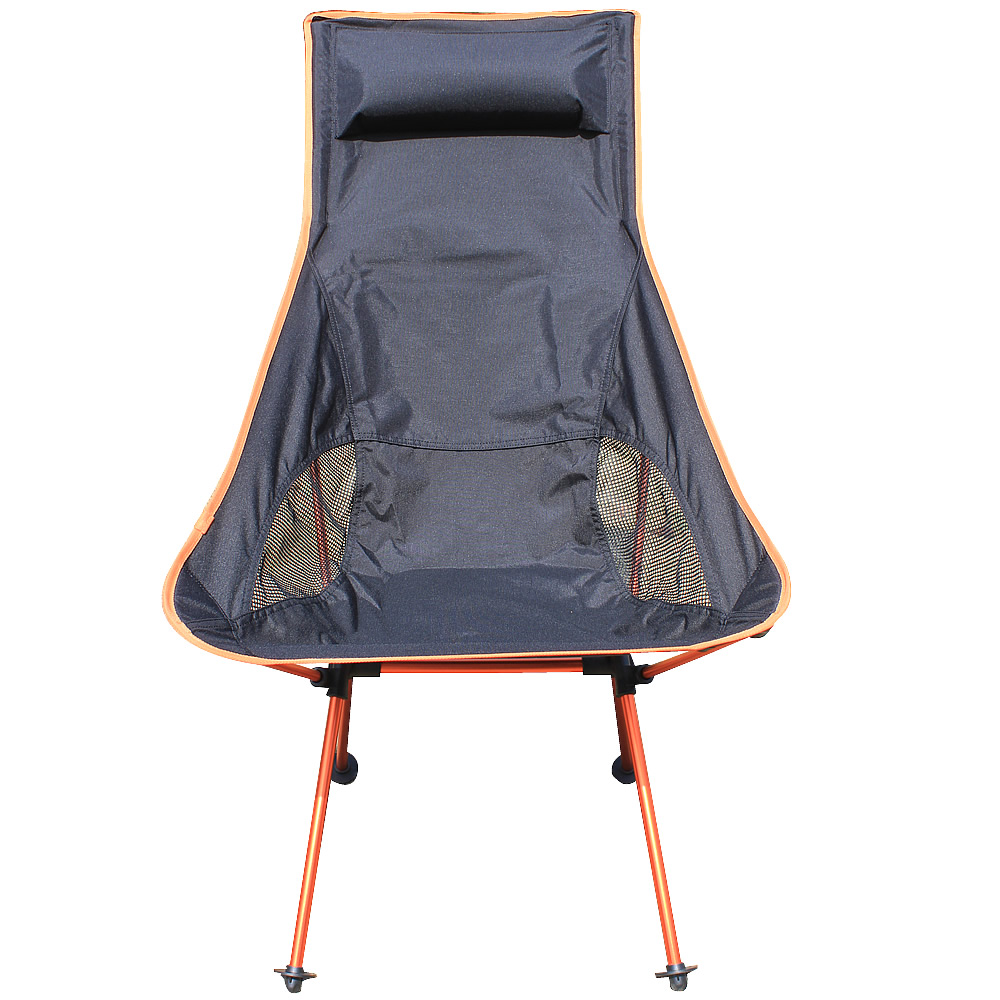 Portable Folding Chairs Aluminium Alloy Fishing Chair 600d Oxford Camping Outdoor Picnic Bbq Beach With Bag Orange In From