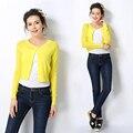 2016 Primavera Outono New Arrivals Cardigans para As Mulheres Camisolas Casacos Blusas Moda Longo-Luvas das Mulheres Outerwear Fina