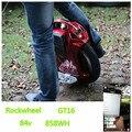 Rockwheel GT16 питается одноколесном велосипеде глобальный бронирование 84 В напряжение 858 вт скорость сюрприз Электрический велосипед мини-автомобиль