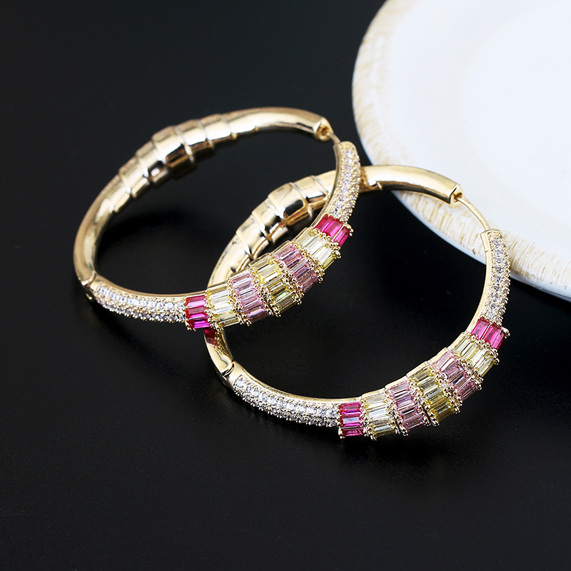 Lady`s Fashion Jewelry AAA+ Zirconia Hoop Earrings XIUMEIYIZU New Arrivals Luxury Brand Accessories Wholesale For Women Banquet
