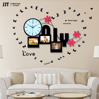 Fashionable individual character wall   clock  ,Forrest bird, swing creative   clocks  ,JJT-S52