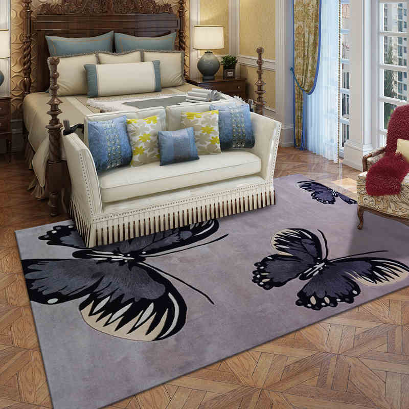 Mat For Home Parlor Bedroom Living Room 9 Dimensions: Butterfly Wool Large Size Carpets For Parlor Living Room