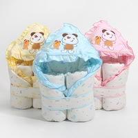 Baby sleeping bag wrapped in newborns holding cotton towels baby thick blanket sleeping bags newborn baby autumn and winter