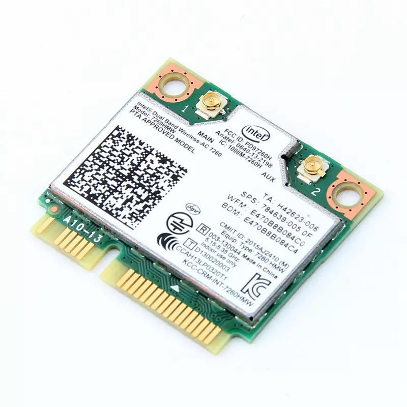 Image 3 - Dual Band Wireless Wifi Card For Intel AC7260 7260HMW ac Mini PCI E 2.4G/5Ghz Wlan Bluetooth 4.0 Wifi Card 802.11 ac/a/b/g/n-in Network Cards from Computer & Office