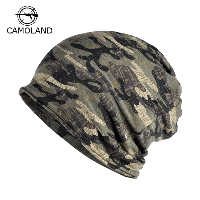 787e8865c45 Fleece Autumn Winter Summer Hat Men Women Tactical Military Army Camouflage  Beanie Knitted Cotton Skullie Thermal Scarf Camo Cap