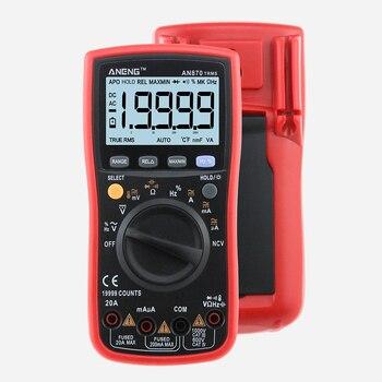цена на AN870 Digital Multimeter 19999 COUNTS True-RMS Auto Range NCV AC/DC Voltage Ammeter Current Meter Temperature Electronics Test