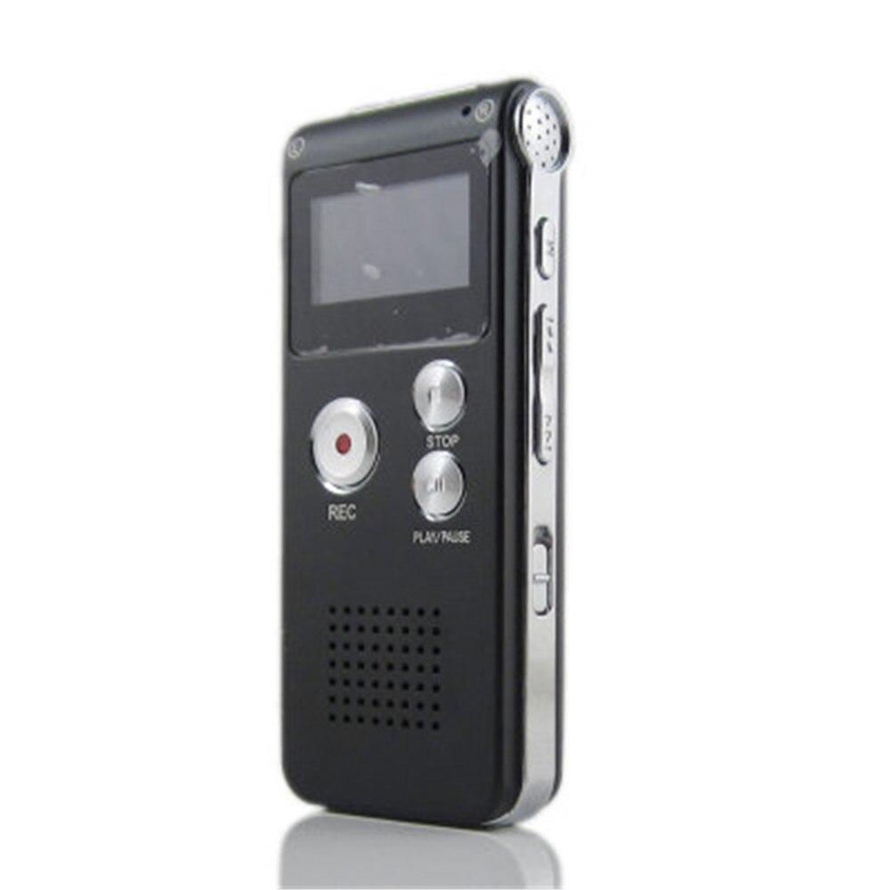 Enregistreur vocal numérique Rechargeable 8 GB Dictaphone téléphone lecteur MP3 ET enregistreur