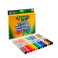 Crayola 12 Colors Broad Line Washable Watercolor Markers For Kids Painting Drawing Safety 58 7812