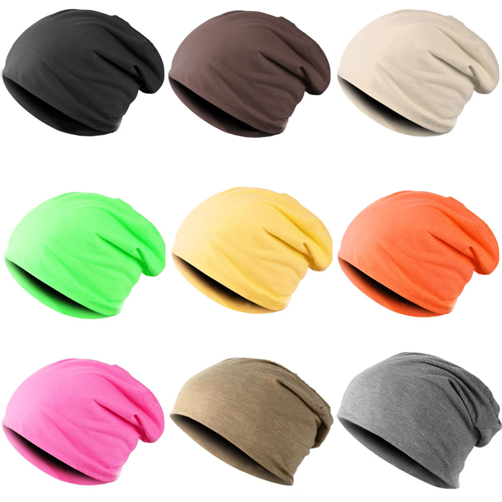 New Fashion Men Women Beanie Top Quality Solid Color Hip-hop Slouch Unisex Knitted Cap Winter Hat Beanies  -MX8