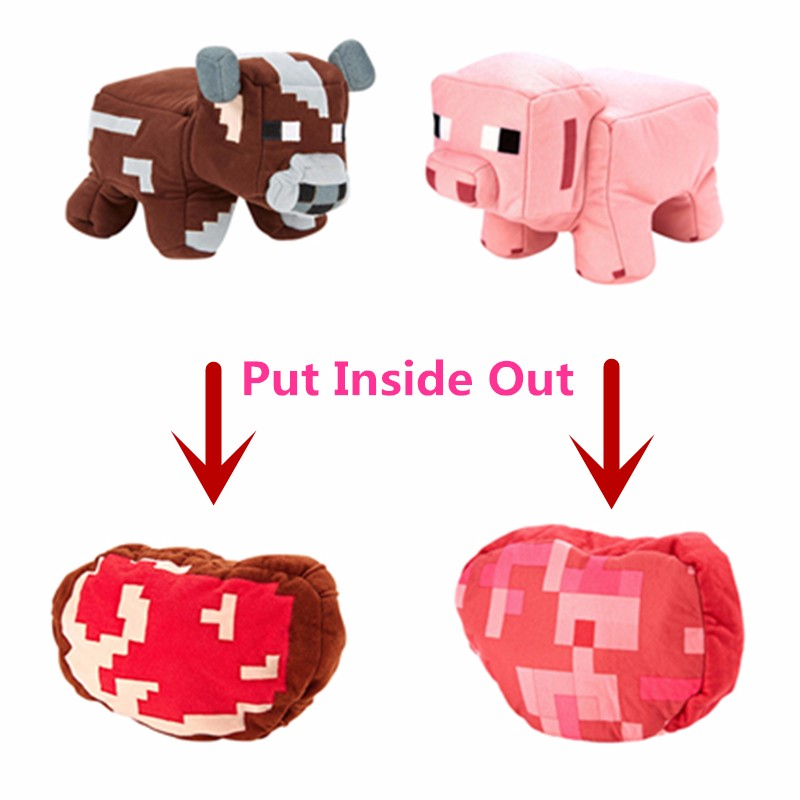 Good-Quality-Minecraft-Plush-Toy-Cow-Pig-Pillow-Brinquedos-Juguetes-Minecraft-Cow-Pig-Toys-JJ-Creeper