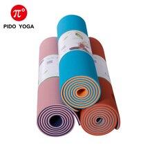 PIDO YOGA TPE Double color yoga mat 183*61*0.6cm Non-slip Gym Fitness Mat Pilates Exercise yoga mat
