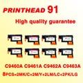 2 комплекта/8 шт. Замена для 91 печатающая головка совместима с hp91 LC/LM M/Y MK/C PK/LG C9460A C9461A C9492A C9463 печатающая головка