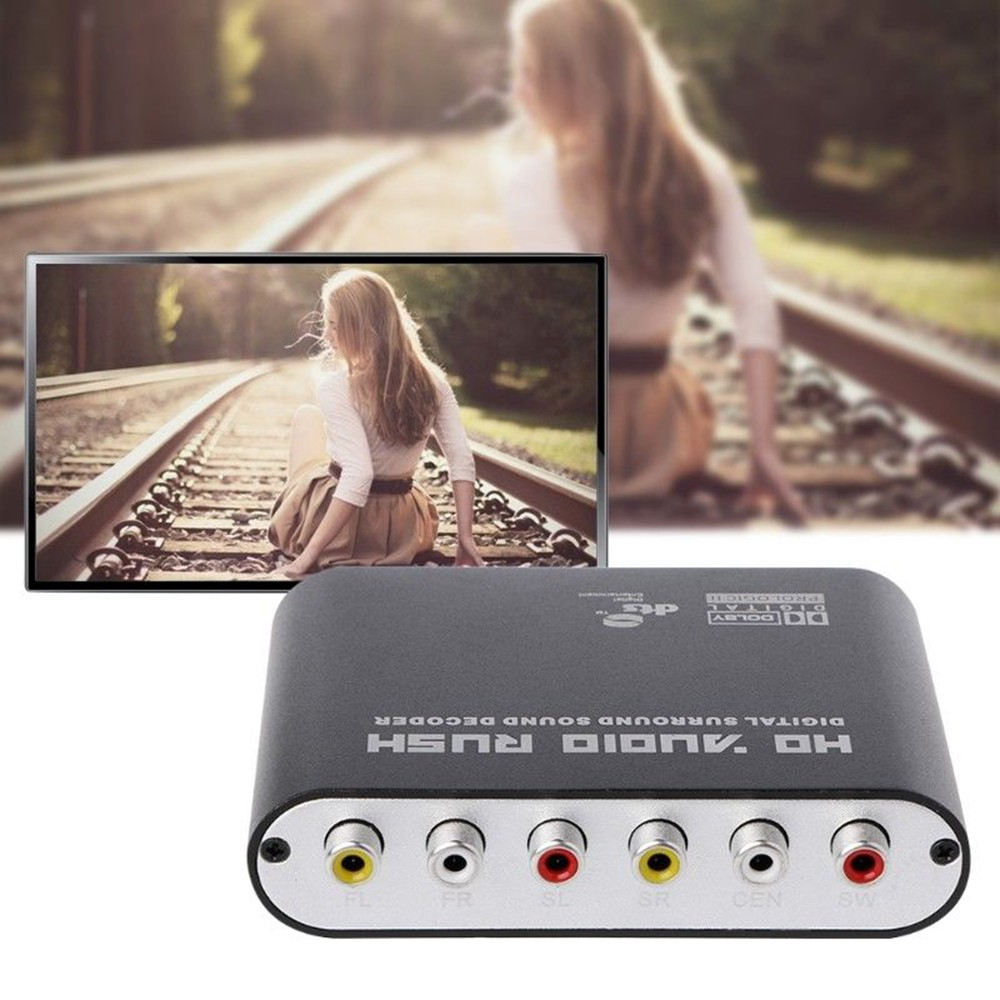 Tragbares Audio & Video Dts/ac3 5,1 Kanal Audio Decoder Optische Spdif 3,5 Aux Koaxial Digital Zu Analog 6rca Hd Dolby Surround Verstärker Convereter