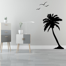 Cartoon Coconut Trees Wall Sticker Animal Lover Home DecorationFor Living Room Decoration Art Decal