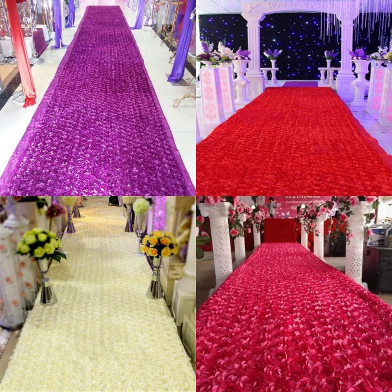 New arrival luxury wedding centerpieces favors 3d rose petal carpet new arrival luxury wedding centerpieces favors 3d rose petal carpet aisle runner for wedding party decoration supplies 10 color in party diy decorations junglespirit Choice Image