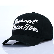 DSQICOND2 Cotton Baseball Caps DSQ Letters Muts Boina Black Cap Men Women Bone Masculino Custom Design Bonnet Homme Dad Hats