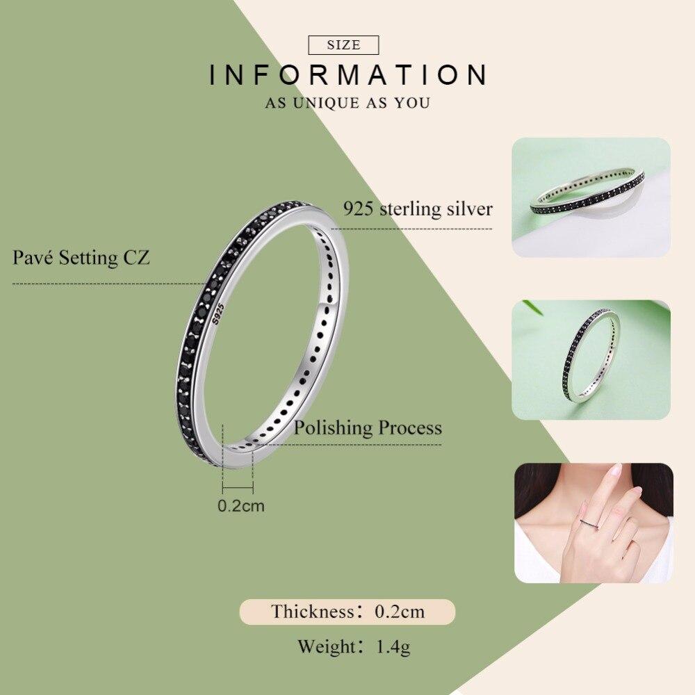 2018 День матери предложения Аутентичные стерлингового серебра 925 2 Цвета ослепительно CZ stackable кольца для Для женщин Свадебные украшения BKR114