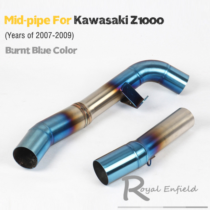 For Kawasaki z1000 Motorcycle Exhaust Pipe Modified middle pipe For KAWASAKI Z1000 2007 2008 2009 2010 2011 2012 2013 2014-2017