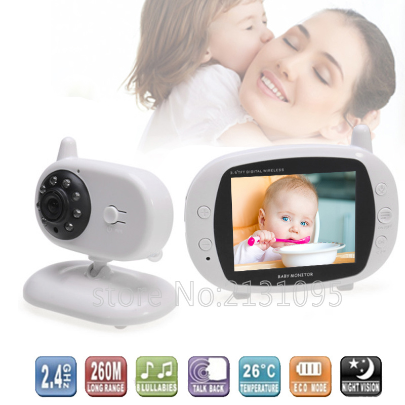 New video nanny babysitter 3.2inch IR Night vision 2 way talk 8 lullabies Temperature monitor baba electronics radio babysitter