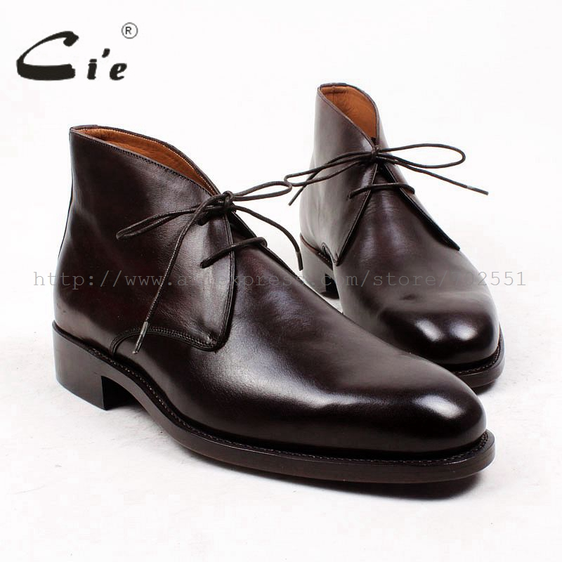 cie round plain toe 100 genuine calf leather boot leather outsole goodyear welted bespoke leather boot