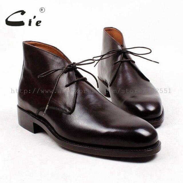 Cie runde klarzehensocken 100% echte kalbsleder boot leder laufsohle rahmengenäht maßgeschneiderte leder boot handgemachten männer boot A90