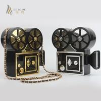Fashion Cassette Video Camera Handbag Women Bags Clutch Evening Bag Shoulder Crossbody Bags Wedding Casual Ladies Hard Case Bag