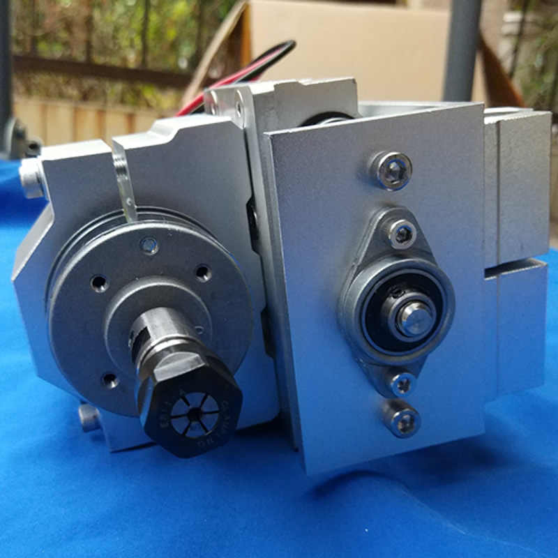 彫刻機金属 Z 軸、ガイドレール直径 12 ミリメートル、ストローク約 4 センチ、と 42 ステップモータ
