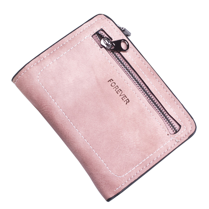 Fashion Solid Women Short Wallet PU Leather Bifold Purse Ladies Bags Female Credit Card Holder Pack Small Zipper Coin Pocket men women zipper pu leather mini purse wallet id credit card holder case organizer coin money bags multifunction new short solid