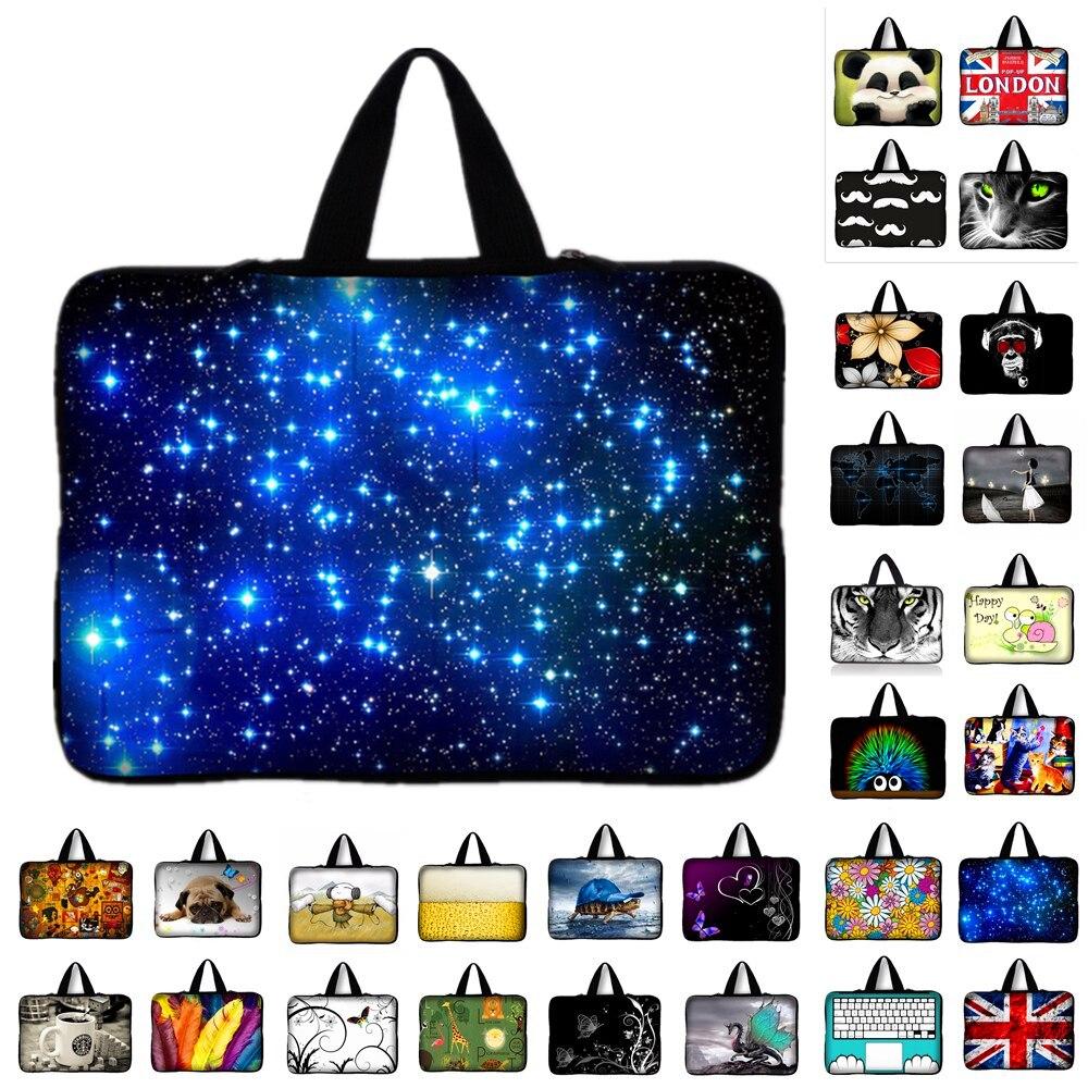 7 10 12 13 13.3 14 15 17 17.3 inch Purple Butterfly laptop bag netbook
