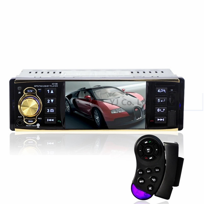 4.1 Inch In-Dash Car Audio Video Player HD Digital Car MP5 Player FM Radio Bluetooth with USB SD AUX Interfaces Menu Interface leshp 7001 hd 1080p touch screen with am rds music movie player bluetooth car radio video mp5 player autoradio fm aux usb sd
