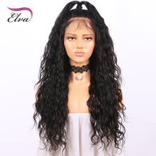 Glueless Full Lace Human Hair Wigs Elva Hair Pre Plucked Natural Wave Brazilian Remy Hair lace