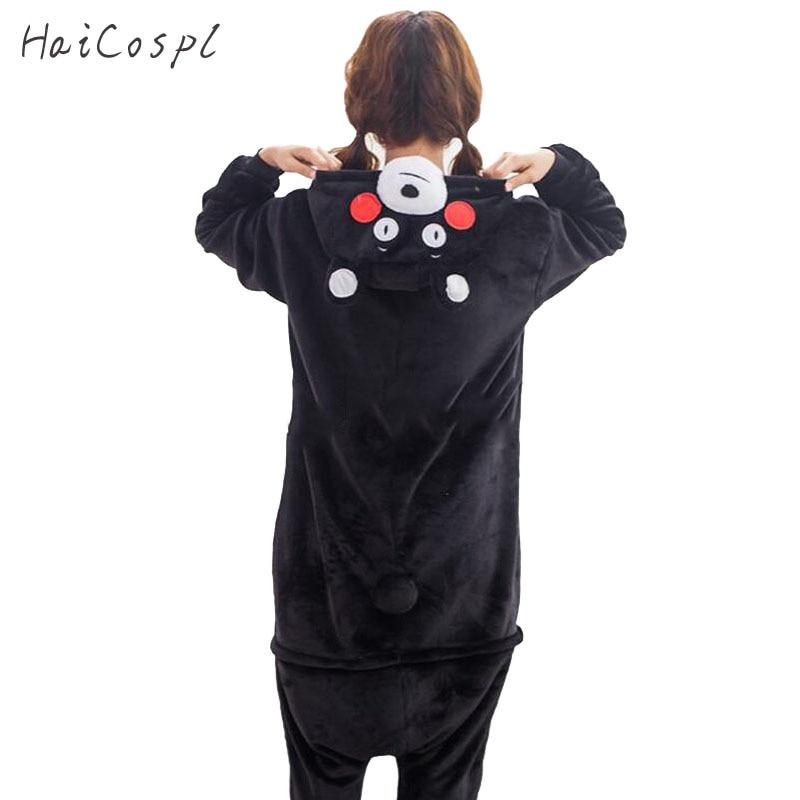 Kumamone Pajama Adult Cosplay Costume Women Men Onesie Winter Warm Sleepwear Flannel Suit Bear Role Play Girls Kigurumi