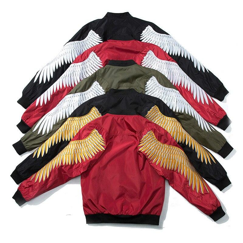 Élégant ailes broderie hommes MA-1 Bomber veste à la mode hommes pilote veste 2019 printemps automne décontracté veste pour hommes